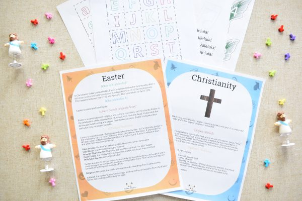 Easter Guide Religious templates