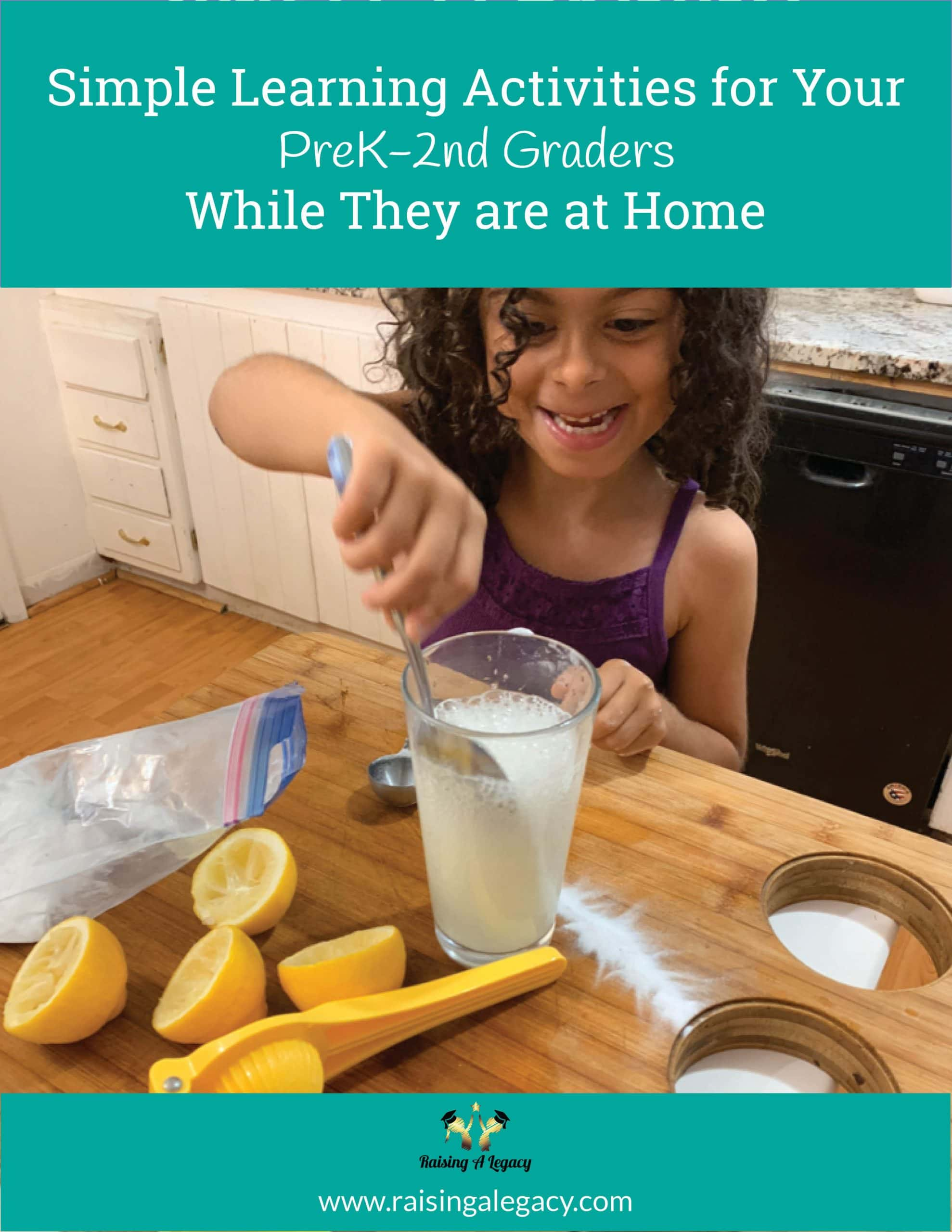 Simple Learning Activities for Your PreK-2nd Kids While They are at Home