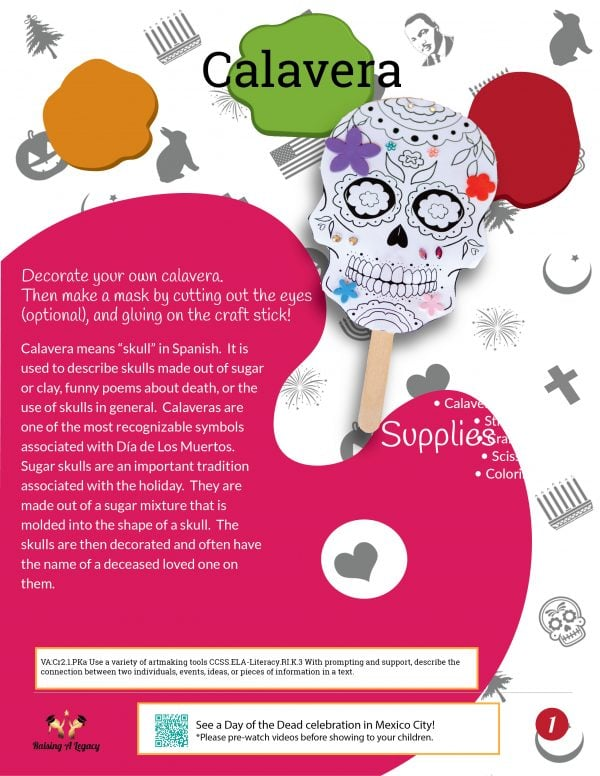 Dia de los Muertos Learning Packet_Art