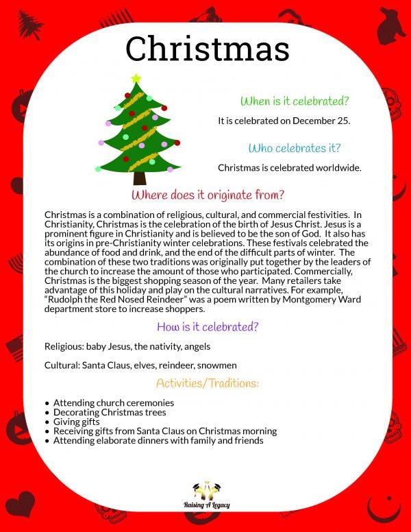 Christmas Learning Packet_origins